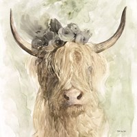 Cow and Crown I Fine Art Print
