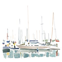 Sailboat Scenery II Framed Print