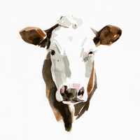 Watercolor Bovine III Framed Print