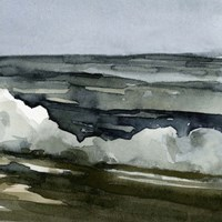 Loose Watercolor Waves III Fine Art Print