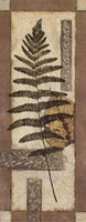 "Leaf Collage II by Richard Henson - 4"" x 10"""