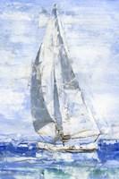 Blue Sails I Framed Print