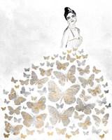 Fluttering Gown I Framed Print