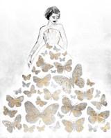 Fluttering Gown II Framed Print