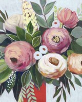 Lustrous Bouquet I Framed Print