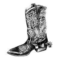 Vintage Cowboy I Framed Print