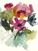 Flower Party II Framed Print