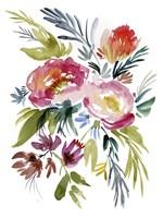 Jeweled Bouquet I Framed Print