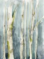 Treeline Watercolor II Framed Print