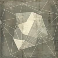 Geomolecule Blueprint I Framed Print