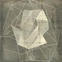 Geomolecule Blueprint II Framed Print