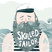 Skilled Sailor I Fine Art Print