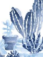 Indigo Succulent I Fine Art Print