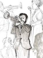 Jazz Sketchbook II Fine Art Print