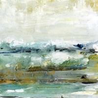 Aqua Coast I Framed Print