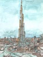 Day Landing Dubai II Fine Art Print