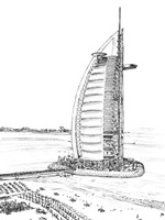 Dubai in Black & White I Fine Art Print