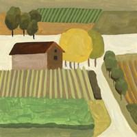 The Hill Village II Fine Art Print