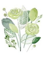 Green Portrait I Framed Print