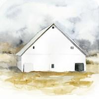 White Barn Watercolor IV Framed Print