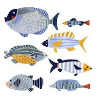 Patterned Fish I Framed Print