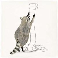 Rascally Raccoon IV Fine Art Print