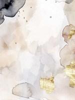 Indigo Blush and Gold I Framed Print