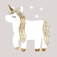 Sleepy Unicorn I Fine Art Print