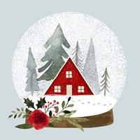 Snow Globe Village II Framed Print