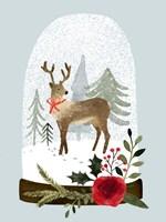 Snow Globe Village III Fine Art Print
