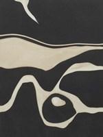 Tides in Sepia I Framed Print