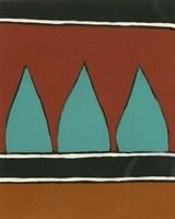 Rust & Teal Patterns II Fine Art Print