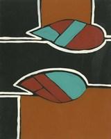Rust & Teal Patterns VI Fine Art Print