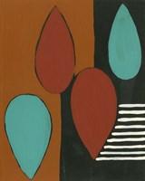 Rust & Teal Patterns IX Fine Art Print
