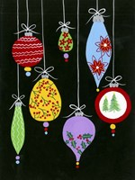 Jazzy Christmas I Framed Print