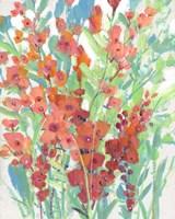 Tropical Summer Blooms I Framed Print