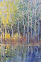Reflected Trees I Fine Art Print