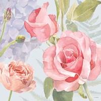 Boho Bouquet III Blue Framed Print