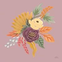 Harvest Garden Flowers III Framed Print