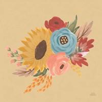 Harvest Garden Flowers I Framed Print