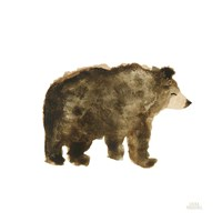 Woodland Whimsy Bear Framed Print