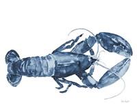 Beach House Kitchen Blue Lobster White Fine Art Print