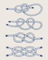 Vintage Sailing Knots XIV Fine Art Print