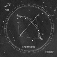 Night Sky Sagittarius v2 Fine Art Print
