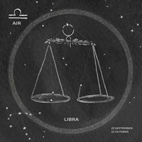 Night Sky Libra v2 Fine Art Print