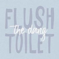 Bathroom Advice III Framed Print