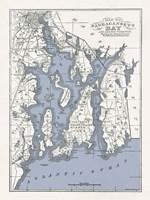 Narragansett Bay Map II Fine Art Print