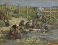 Laundresses by a Stream, ca. 1886-1890 Fine Art Print