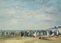 The Beach at Trouville Fine Art Print