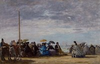 The Beach, 1864 Fine Art Print